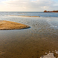 Beach And Rippled Water At The Wadden Sea. by Jan Brons