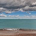 Beach And Ships. by Juan Carlos Ferro Duque