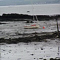 Beach At Culross Scotland by Lesley Nolan