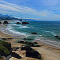 Beach At Ecola State Park by Dale Kauzlaric