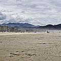 Beach At Seaside Oregon by Cathy Anderson