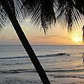 Beach At Sunset 2 by Anita Burgermeister