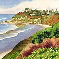 Beach At Swami's Encinitas by Mary Helmreich