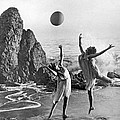 Beach Ball Dancing by Underwood Archives