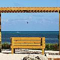 Beach Bench by Chuck  Hicks