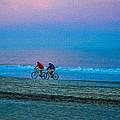 Beach Biking  by Mary Hahn Ward