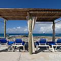 Beach Cabana With Lounge Chairs by Amy Cicconi