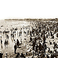 Santa Monica Beach And Pier  by California Views Mr Pat Hathaway Archives