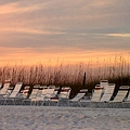 Beach Chairs At Dusk by Catie Canetti