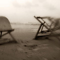 Beach Chairs  by Isaac Silman