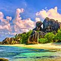 Beach Cove On La Digue by Dominic Piperata