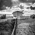 Beach Entrance To Old Glory - Black And White by Ian Monk