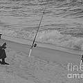 Beach Fishing by Michelle Powell