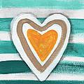 Beach Glass Hearts by Linda Woods