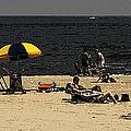 Beach Goers by Jim DeLillo