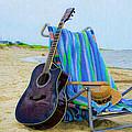 Beach Guitar by Bill Cannon
