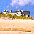 Beach House In The Hamptons by Mark E Tisdale