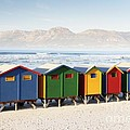 Beach Huts At Muizenberg by Neil Overy