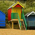 Beach Huts At Wells Next To Sea 1 by Bill Simpson