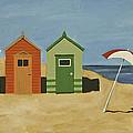 Beach Huts by James Lavott