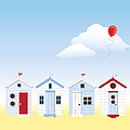 Beach Huts by Jane Rix