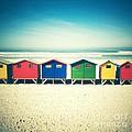 Beach Huts Muizenberg Retro by Neil Overy