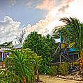 Beach In Front Of Colinda's Cabanas by Lee Vanderwalker