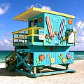 Beach Life In Miami Beach by Monique's Fine Art