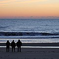 Beach Lovers Awaiting Sunrise by Robert Banach