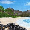 Beach On Helicopter Island by Vicki Maheu
