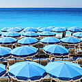 Beach Parasols, Nice by Fraser Hall