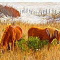 Beach Ponies by Alice Gipson