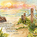 Beach Post Sunrise Psalm 139 by Janis Lee Colon