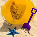 Beach Sand Pail And Shovel by Paul Ward