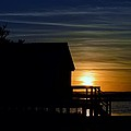 Beach Shack Silhouette by William Bartholomew