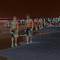 Beach Solar Series Vii Usa by Sally Rockefeller