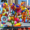 Beach Toys At Manta Beach Ecuador by Kurt Van Wagner