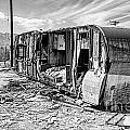 Beach Trailer Bw by Keith Ducker