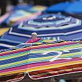 Beach Umbrella Rainbow 2 by Scott Campbell