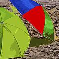 Beach Umbrellas by Allan  Hughes