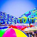 Beach Umbrellas by Colleen Kammerer