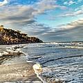 Beach Walk In Winter by Patricia Greer