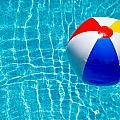 Beachball On Pool by Amy Cicconi
