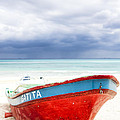 Beached Beyond The Storm - Riviera Maya by Mark E Tisdale