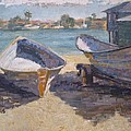 Beached In Long Beach by Sharon Weaver