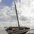 Beached Sailboat by Susan Jensen