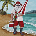 Beachen Santa by Darice Machel McGuire