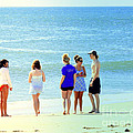 Beaches Of Point Pleasant Nj by Sue Rosen