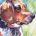 Beagle Dog by Maria's Watercolor