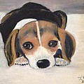 Beagle Resting by Lucille  Valentino